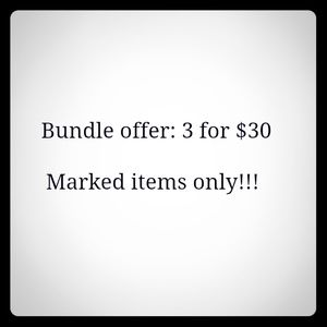 Other - Buy 3 for 30 on marked items only